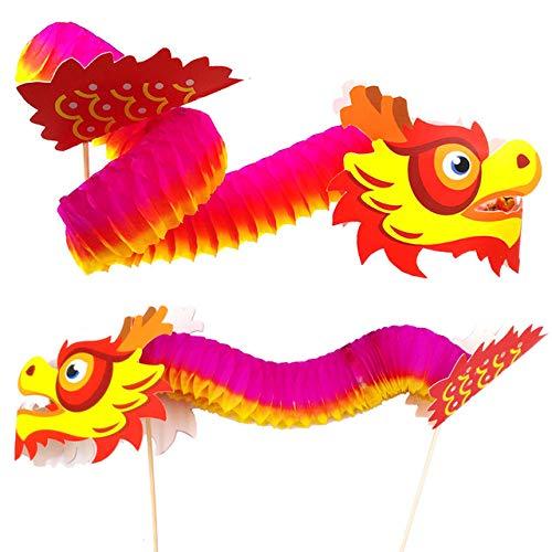 Kreatives Bastelset für Kinder und Erwachsene, chinesisches Neujahr, Dekoration, Feng Shui Zen – DIY Drache 3D, 4 Sets
