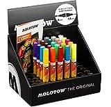 Molotow One4All Acrylic Twin Marker (Display inkl. Train Steel Box, Strichstärke 1.5 mm und 4 mm, hochdeckend und permanent) 24 Stück sortiert