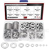 DYWISHKEY 700Pcs 9 Sizes Stainless Steel Flat Washers Assortment Kit (M2 M2.5 M3 M4 M5 M6 ...