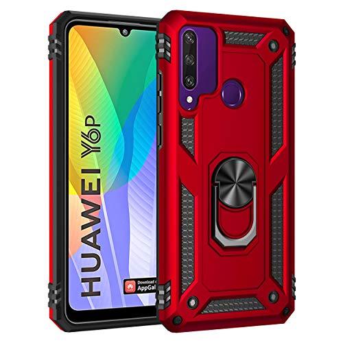 AFARER Hülle Kompatibel Mit Huawei Y6p (2020)/Honor 9A Militärische Handyhülle Rot