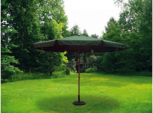 sol-jardin Sombrilla Parasol 3,5 Metros diámetro Tubo 48mm de Aluminio y Tela de Poliester Color Verde