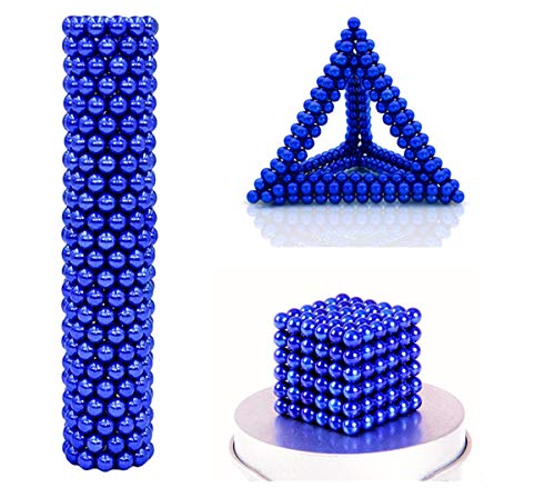 RQW Magnet Balls DIY Office Rare Earth Balls Sculpture Building Blocks Playful Stress Relief Gift for Teens and Adults (Dark Blue, 3MM, 216PCS)