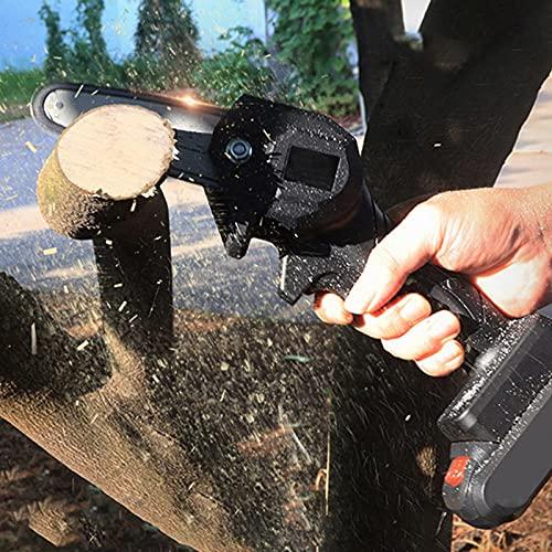 PEALOV Mini Motosierra Eléctrica 4 Pulgadas, Motosierra Portátil Para El Hogar Inalámbrica, Velocidad De Corte Ajustable,para Cortar Madera Y Metal,cortador De Madera De Rama De árbol