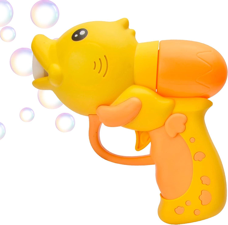 Bubbles Mini Bubble Machine, Bubble Gun Blower with Lights and M