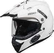 Sedici Viaggio Parlare Sena Bluetooth Drop Down Sun Shield Vented DOT Adventure Touring Motorcycle Full Face Helmet - White SM