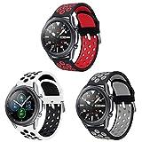 Sycreek Kompatibel für Samsung Galaxy Active Armband 20mm Silikon Zweifarbiges Armband Schnellverschluss-Ersatzarmband für Galaxy Watch 42mm /Active Watch/ Active2 40mm/Active2 44mm/Gear S2 Classic