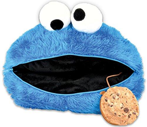 Close Up Sesamstrasse Kissen > Krümelmonsterkopf/Küschelkissen in blau mit Cookietäschchen