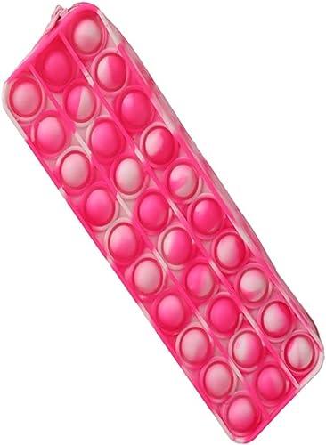 wholesale BTSRPU Fidget Toys Pack, 2021 Sensory Fidget new arrival Toys Cheap, Simple Sensory Silicone Bubble Toy, Pencil Pen Case Fidget Sensory Toy, Bubble Fidget Stationery Storage Bag Decompression outlet sale