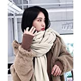 Heliansheng Verdicken Sie warme Damen Schal einfarbige Imitation Kaschmir Mode Frauen erhöhen...