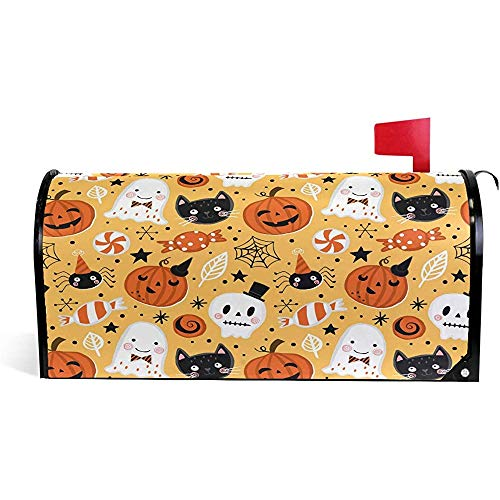 Halloween Schädel Katze Kürbis Süße Mailbox Abdeckungen Magnetic 21 \'x 18\'