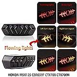 Mubaoyu Luci Posteriori per Moto Fanale Posteriore Indicatori di Direzione LED (Nero)