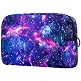 Neceser de Maquillaje para Mujer Bolso Organizador de Kit de Viaje cosmético,Universo Nebulosa Estrellada galáctica