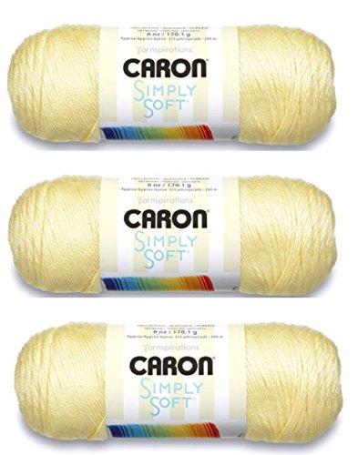 Spinrite Caron Simply Soft Garn, 170 g, Gr. M, (4er-Pack) Baby Sunshine