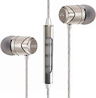 سماعات أذن ساوند ماجيك مع ميكروفون، سماعات أذن سلكية عازلة للضوضاء داخل الأذن سماعات الأذن ستريو هاي فاي قوية (E11C، جانمي...