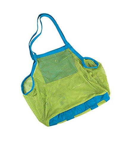 Drawihi Grand sac de plage en maille pour enfants, jouets, vêtements, sandy chaussures, serviettes humides