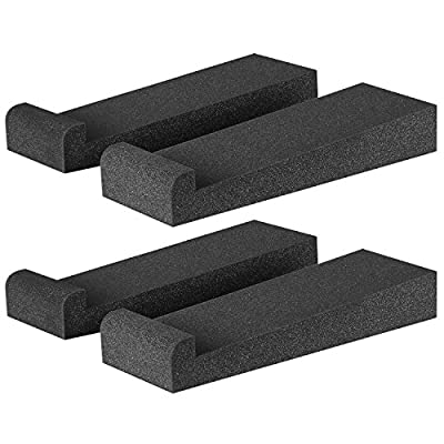 """Neewer® 4 Pieces Studio Monitor Acoustic Isolation Pads Dampening Recoil Stabilizer Speaker Risers, 12"""" x 3.9"""" x 1.8""""/30.5 x 10 x 4.5cm, Black by Neewer"""