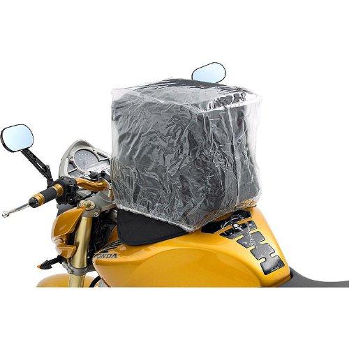 QBag Zubehör Motorrad-Tankrucksack Regenhaube universal für Tankrucksäcke, umlaufender Gummizug, straffer Sitz, durchsichtig, 20 – 35 Liter