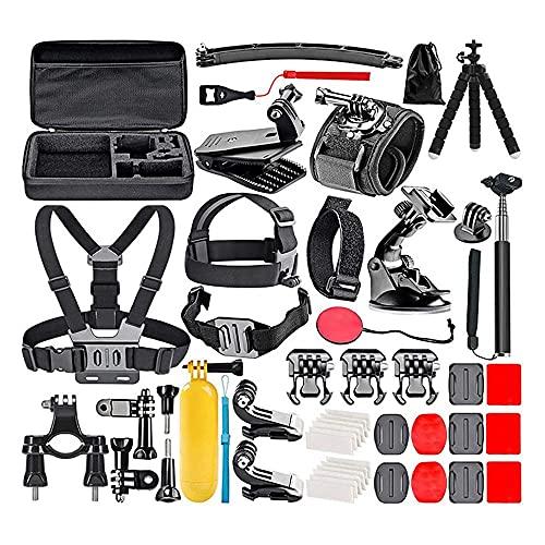 LingoFoto 21-In-1 Action Camera Accessory Kit, Suitable for GoPro Hero9/Hero8/Hero7, GoPro MAX, GoPro Fusion, Insta360, dji Osmo Action, AKASO, APEMAN, Campark, SJCAM etc.