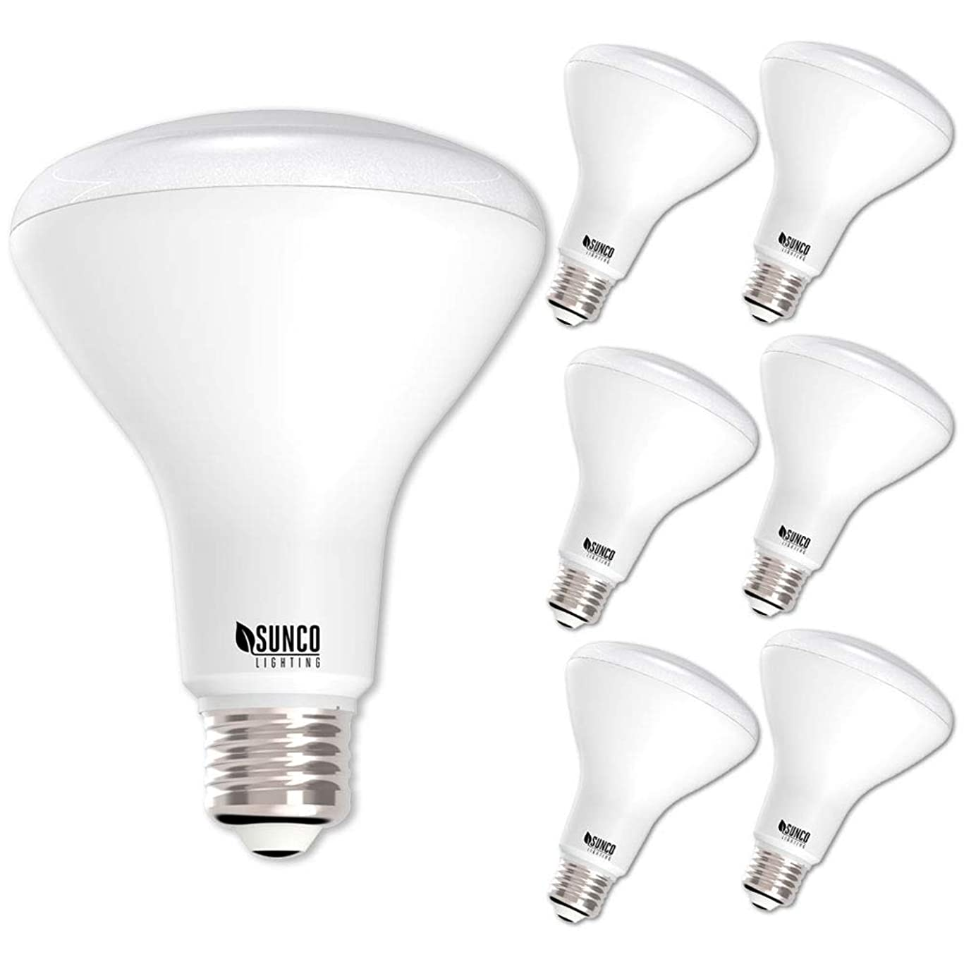 Sunco Lighting 6 Pack BR30 LED Bulb 11W=65W, 3000K Warm White, 850 LM, E26 Base, Dimmable, Indoor/Outdoor Flood Light - UL & Energy Star