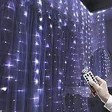 Yosemite 200 LED 3 x 2 Metros de luz de Cortina USB 8 Modo de Hada lámpara con Mando a Distancia para decoración de Navidad o Boda
