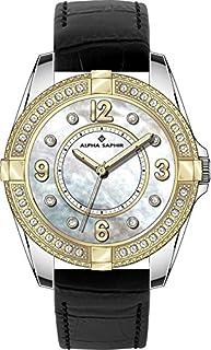 Alpha Saphir Reloj Analógico para Mujer de Cuarzo con Correa en Piel 132-4700-82
