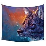 #Wandteppich #Wolf #bunt 130x150 oder 150x200cm