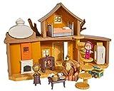 Simba–Masha & Michka–Casa de Masha 2Plantas + 1muñeca 12cm y Accesorios
