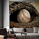 Flber - Tapiz de béisbol para colgar en la pared del hogar, regalo de béisbol, 152 x 203 cm, tamaño individual