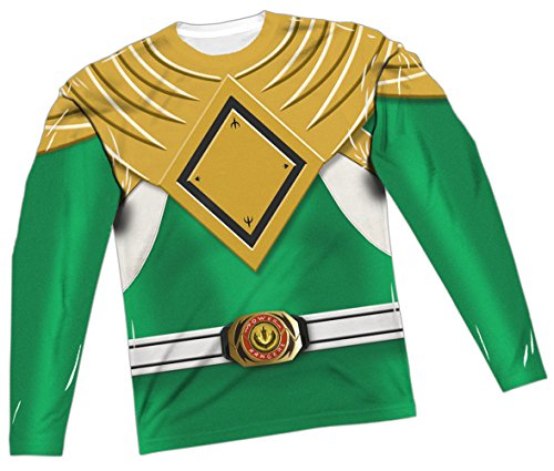 Power Rangers Green Ranger Costume All-Over Long-Sleeve T-Shirt, Medium