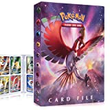 QIFAENY Card Binder for Pokemon, Card Album for Pokemon TCG, Pokemon Card Holder, Trading Card Album, Album for Pokemon Card TAG GX EX, Pokemon Card Book, 30 Page Capacity 240 Cards (Solgaleo&Ho-oh)