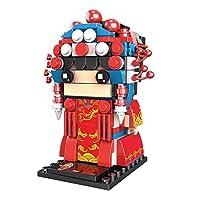 3D人形アセンブリモデル、中国のオペラ文字の装飾、小さなビルディングブロック,Huadan
