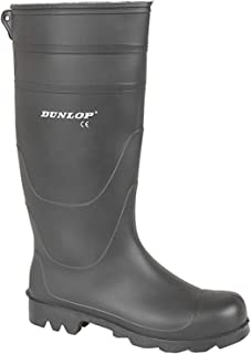 Dunlop Mens Wellington Boots Waterproof Wellington Wellies Boots (11 UK, Black)