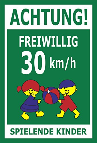 Melis Folienwerkstatt sticker schild - Willig 30 km/h - S00040-027-G
