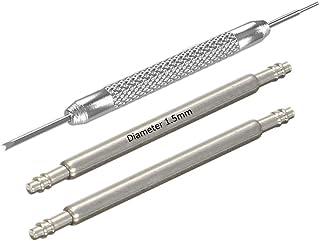 Masar INOX 316L Barrettes à Ressort Montre Ø 1.5mm - 10 à 32mm - Premium ou Swiss - Pompes Tiges pour Bracelets – 2 Pcs