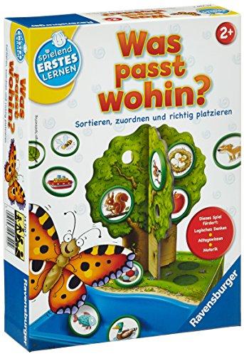 Ravensburger 24720 - Was passt wohin? - Zuordnungsspiel für die Kleinen - Spiel für Kinder ab 2 Jahren, Spielend erstes Lernen für 1-2 Spieler