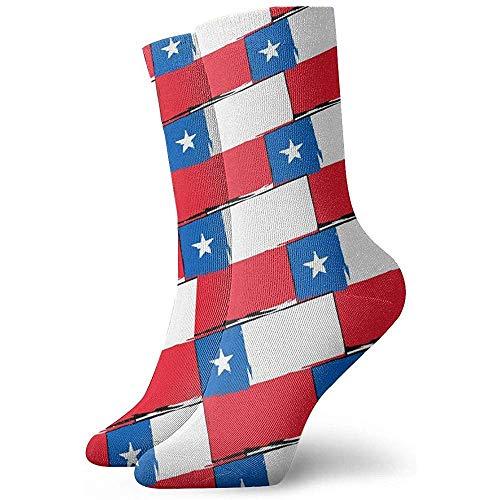 Be-ryl Chilenische Flagge oder Fahne Lustige verrückte Socken-weiche Neuheits-Socken