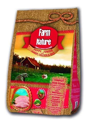 Farm Nature Pienso seco para Perros Cachorros y Junior. FN Pavo y Pollo con Arroz Junior - Todas Las Razas - 2,5 kg