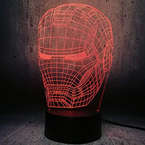 WNFXYD 3D-illusie, optische verlichting, nachtlampje, schattige kat, dieren, 7 kleuren met acryl, USB-oplader voor nachtkastje, voor kinderen