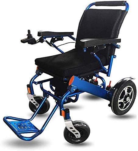 HY-WWK Wheelchairs Electric Powered Wheelchair Folding 29Kg,360° Joystick, Weight Capacity 100Kg,Seat Width 37Cm,Motorized Wheelchairs,Can Board The Plane
