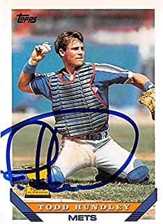 Autograph Warehouse 344706 Todd Hundley Autographed Baseball Card - New York Mets44; SC 1993 Topps All Star Rookie Cup No. 380