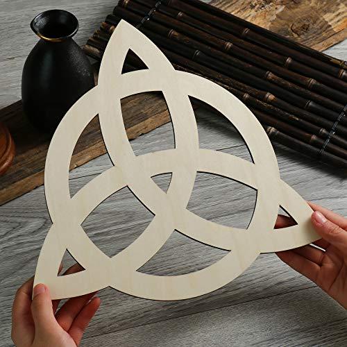 Simurg Triquetra Symbol Wall Art Celtic Trinity Knot Wall Decor Art Home Decoration(11.5 Inch (29CM), Triquetra