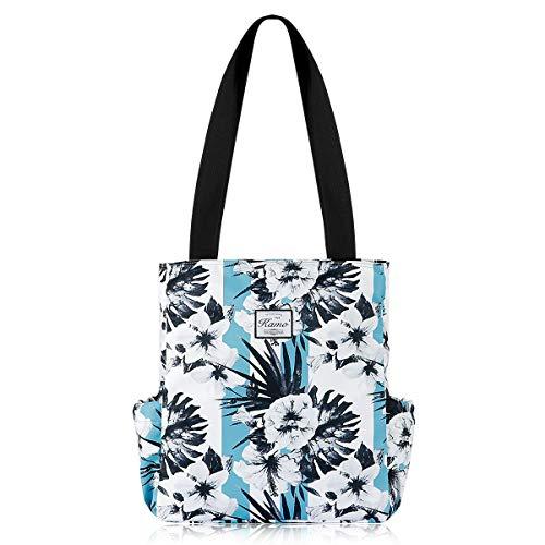 KAMO Floral Tote Bag - Waterproof Lightweight Handbags Travel Shoulder Bag for Hiking Yoga Gym Swimming Travel Beach