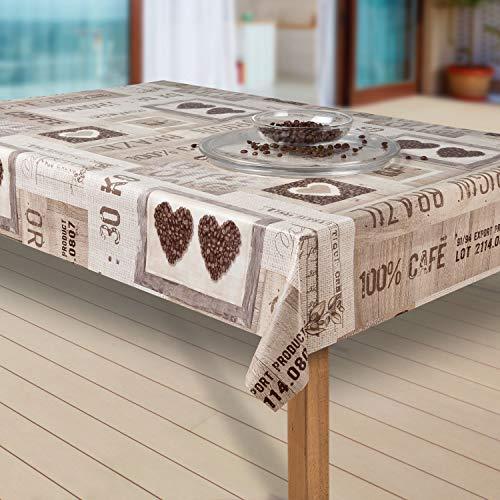 laro Wachstuch-Tischdecke Abwaschbar Garten-Tischdecke Wachstischdecke PVC Plastik-Tischdecken Eckig Meterware Wasserabweisend Abwischbar |05|, Größe:130x160 cm
