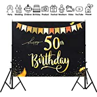 200x150cm Photography Studio 50th Happy Birthday Backdrop Foldable Photo Background Cloth 2020 Style