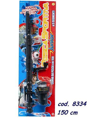 RSTA Telescopica Canna da Pesca Gioco Sportivo Sport Giocattolo 465, Multicolore, 8004817083340