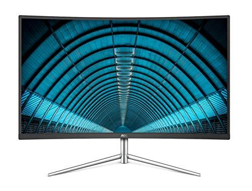 AOC C32V1Q 31.5in Full HD 1920x1080 Monitor, Curved VA Panel, 4ms 75hz, Frameless, HDMI/DisplayPort/VGA, FlickerFree, Low Blue Mode, VESA (Renewed)