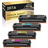 Arcon Cartucho de tóner Compatible con para Usar en Lugar de HP 207A 207X W2210A W2210X Color Laserjet Pro MFP M283fdw M282nw M283fdn M255dw M255nw (Negro,Cian,Amarillo,Magenta,Pack de 4)