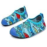 JOINFREE Niños Niñas Nadar Zapatos para el Agua Deportes acuáticos Calcetines Zapatillas Zapatos para la Piscina (pez,18-19)
