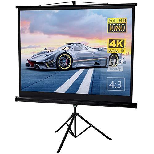 Dawoo Schermo Per Proiettore,Formato 4:3 Telo Di Videoproiettore,Teatri Domestici Interni Ed Esterni