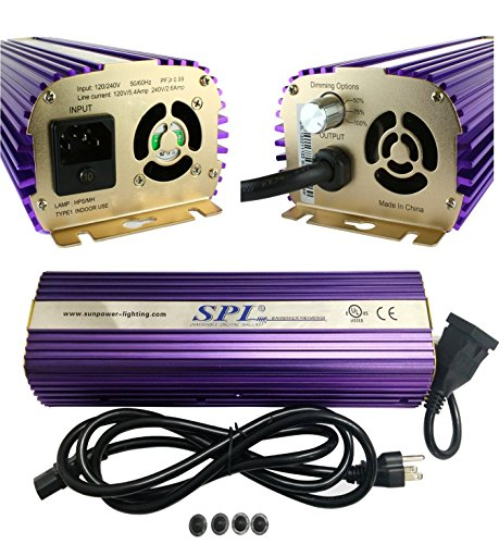 SPL Horticulture STB 1000 Hydroponic 1000w Watt HPS Mh Digital Dimmable Electronic Ballast for Grow Light Bulb Lamp